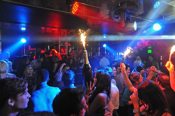 MIAMI, FL: The SL nightclub at the James Royal Palms Hotel is high energy.